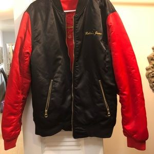 Owned by Fetty Whop. Robin's Jean Bomber Jacket